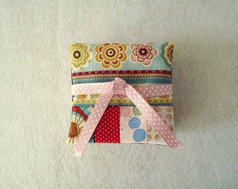 Set of 8 scraptacular fabric coasters
