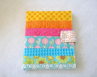 Tablet patchwork cover with magnetic snap closure