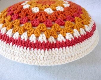 13-inch double-sided crochet pillow