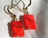 Dark Coral Earings
