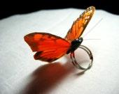 Butterfly ring- Monarch - scarletmaiden