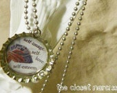 Holding All the Right Cards Bottlecap Necklace