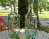 Light Transluscent Green Liquor Decanters