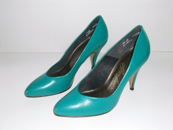 aqua blue green high heel shoes 6 5 s pumps 6 1 2b