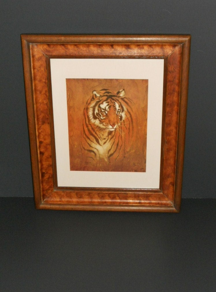 Bengal Tiger Print By Richard Hinger Beautifully Framed