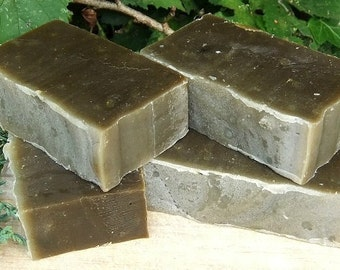 2 Bars Juniper Basil Bergamot Patchouli & Seaweed Natural Honey Soap Men Women UK Seller