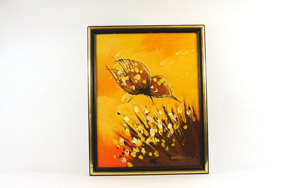 Abstract Butterfly Painting on Canvas