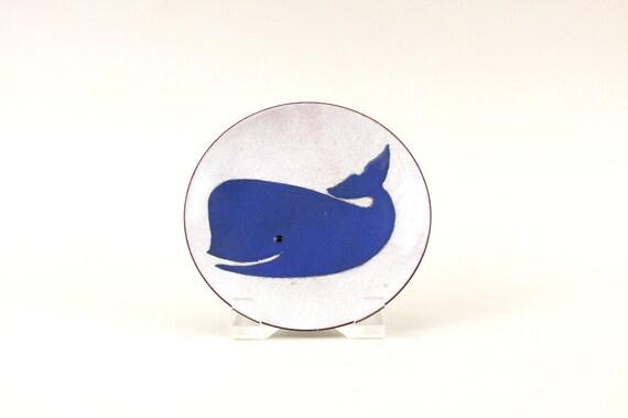 Annemarie Davidson Enamel On Copper Whale