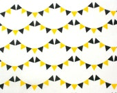 "Cotton Children's  Fabric - "" Little Bunting White"""