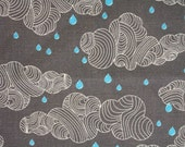 "Upholstery fabric  ""Rain Clouds"" -  ( Fat Quarter)"