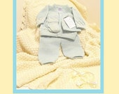 3 Month Baby Neutral MINT Color Argyle 4pc Knit... Yellow Blue 3M by Isabella and Valentino ( i&v baby)