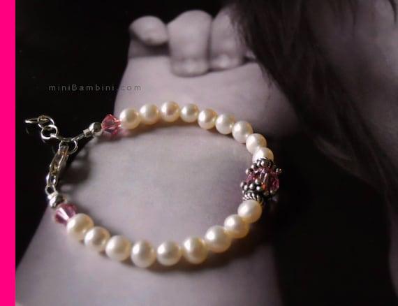 Items Similar To Genuine Pearl Baby Bracelet Tiffany