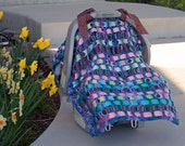 FREE SHIPPING    Car Seat Cover    Ready to Ship    (Fiddle Dee Dee)  the best baby shower gift ever purple