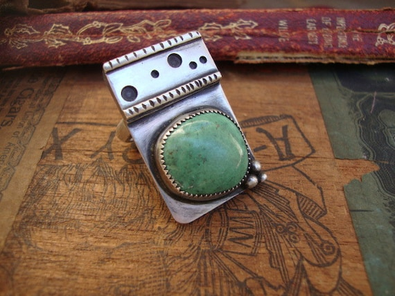 Sterling Silver Turquoise Ring Handmade