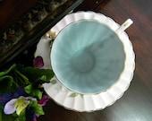 Teacup Tea Cup and Saucer Damaged 7704