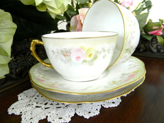 1 J P and L Limoges France Teacup Tea Cups and Saucers 7276
