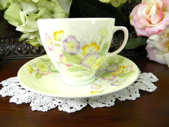 Old Royal Teacup Tea Cup and Saucer - Footed Bone China 7279