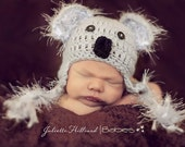 baby boy hats, baby girl hat, koala bear hat, crochet baby hat, infant hats , baby shower gift, coming home outfit