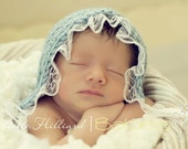 Lace bonnet -MADE TO ORDER- Newborn size