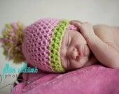 hat crochet pattern, pom pom hat pattern, photo prop pattern, props for girls, infant hat pattern, baby girl hats, baby shower gift