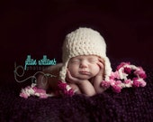 baby girl hat, baby girl clothes, infant girl hats, crochet baby girl hat, girl props, baby girls, pom pom earflap hat , newborn girl hats