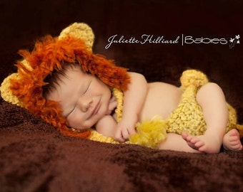 Crochet pattern , crochet lion pattern, crochet lion hat, diaper cover pattern