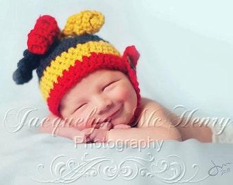 hat crochet pattern, jester hat pattern, baby hat pattern, crochet beanie patterns, chinstrap beanie pattern, photography props, newborn hat