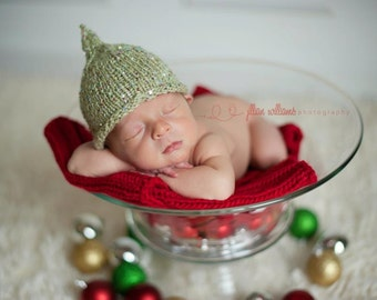 Free KNITTING PATTERN- Pointy Knit hat pattern - baby boy hats - knitted photo prop patterns