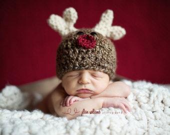 Reindeer hats, baby boy hats, baby boy hat, baby girl hats, reindeer beanies, christmas props, reindeer photo props, photo props for xmas
