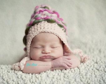 hat crochet pattern, bonnet crochet patterns, baby girl hat patterns, newborn girl hat pattern, photo prop pattern, baby hat crochet pattern