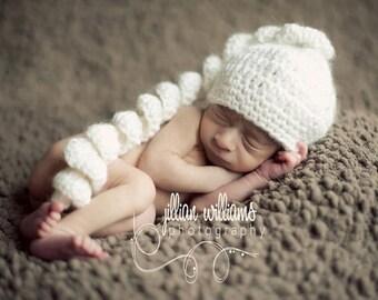 Spiral stocking cap    -MADE TO ORDER- Newborn size