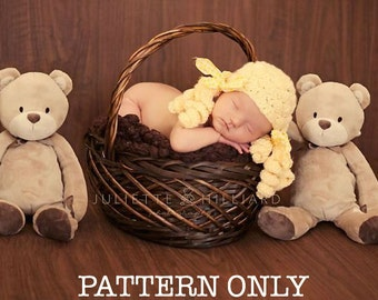 baby girl hat patterns, crochet patterns, hat crochet patterns, beanie patterns, goldilocks and the three bears props, photo prop patterns