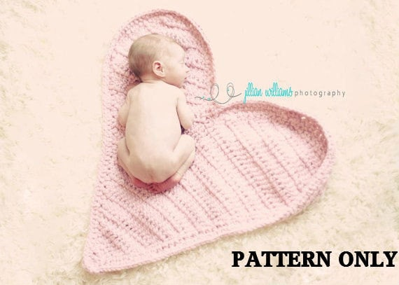 crochet pattern - newborn photo props, valentines props , baby crochet ...