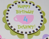 Tea Party Mad Hatter Cupcake Toppers (24)