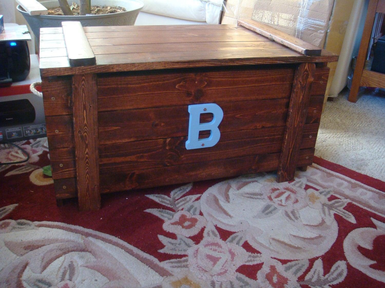 Custom toy box blanket chest monogram