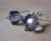 SALE!  Mystic Blue Quartz, Silver Earrings - 20% OFF