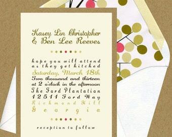Kasey & Ben Wedding Invitation Set