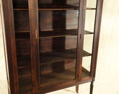 Antique Glass Closet, Bookcase, China Closet, Armoire -- Made by Montour Furniture Company in Montoursville, PA