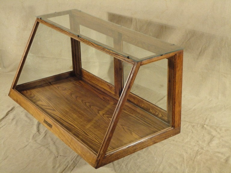 Antique Oak Display Case Or Beautiful Curio Mint Condition