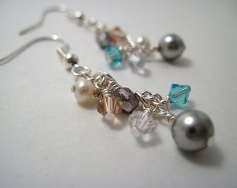 Sweet & Sparkly Swarovski Necklace and Earrings Set REDUCED PRICE
