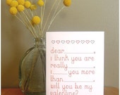 Love Note - Valentine Card and Envelope - Fill in the Blank