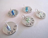 Sterling Silver Name and Birthstone Pendant