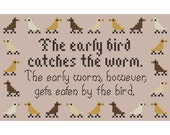 THE EARLY BIRD... Sassy Sampling Cross Stitch Chart