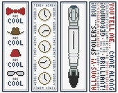 DOCTOR WHO BOOKMARKS Cross Stitch Chart Collection