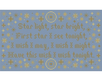 Star Light, Star Bright Cross Stitch Chart