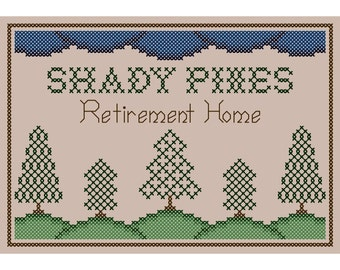 Golden Girls Inspired SHADY PINES Cross Stitch Chart