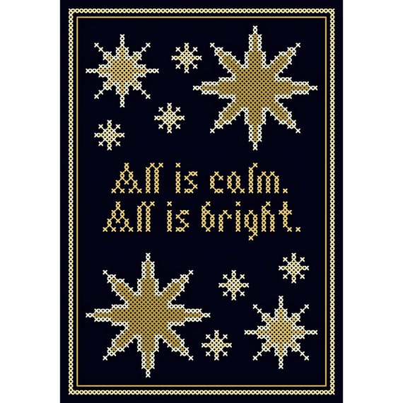 All is Calm ... All is Bright - Cross Stitch Chart