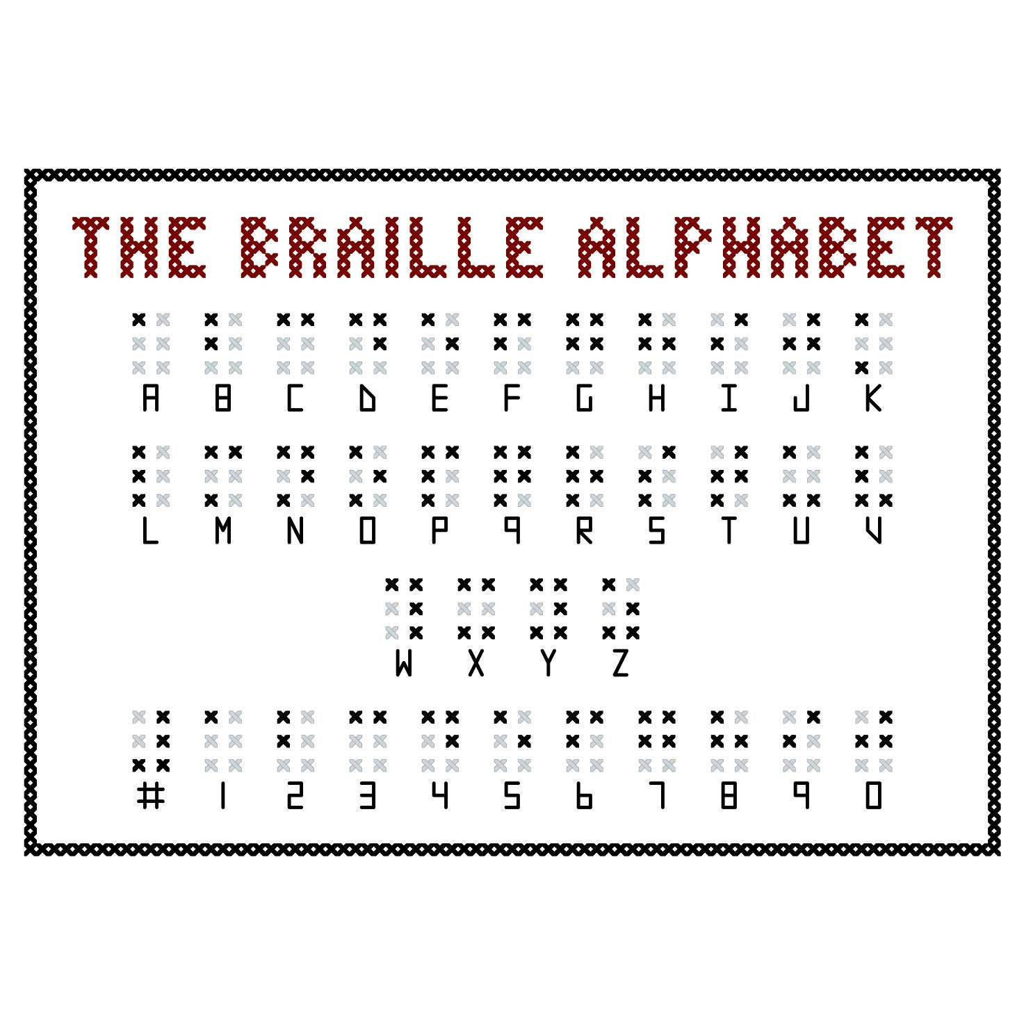 Unforgettable image pertaining to braille alphabet printable