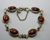 Vintage Sarah Coventry Wood Nymph Link Bracelet