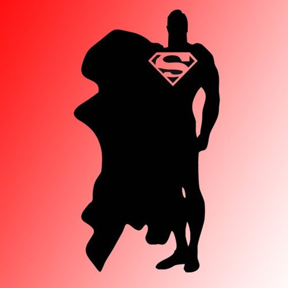Kisvinyl on etsy for Superman wall decal